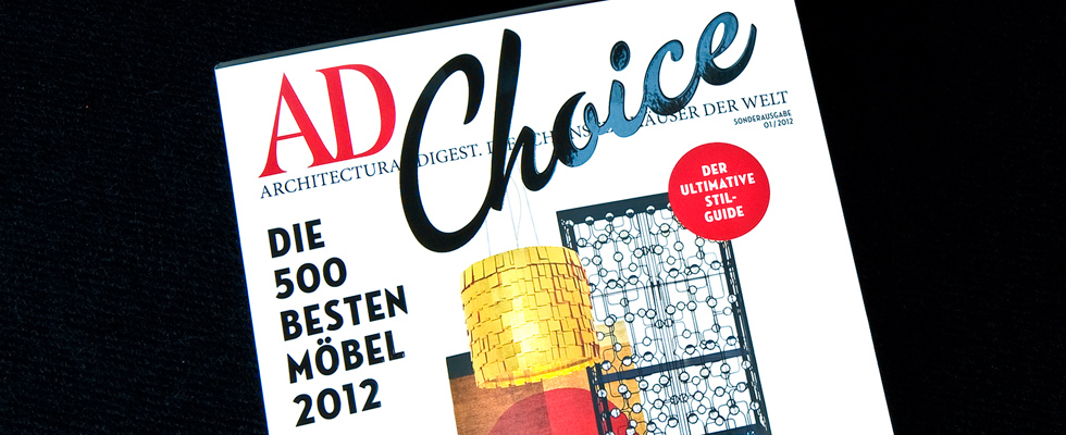AD Choice: Die besten Möbel & Trends 2012 AD Choice Slider