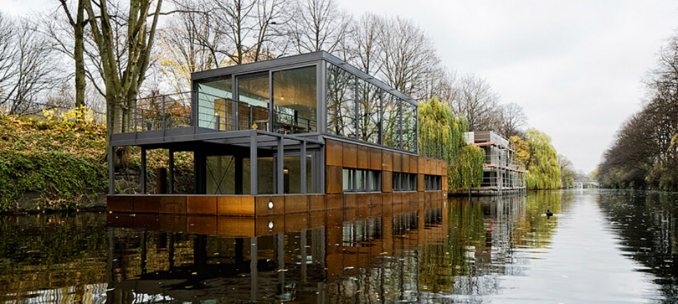 Wohntrends: Maritimes Wohnflair eilbek canal houseboat1