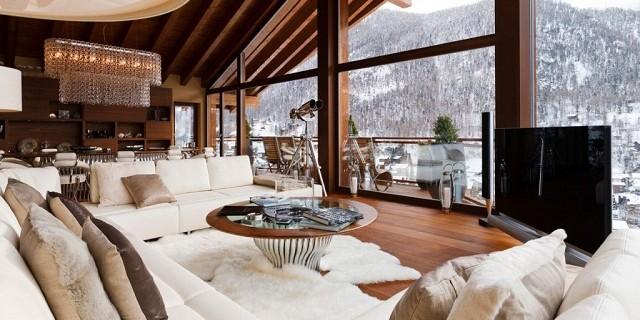 Dekoideen: luxuriöse Interieurs der Chalets in den Alpen ...