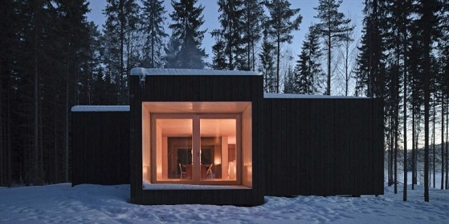 """Four-cornered Villa von Studio Avanto Architects; Familienhaus in Finnland; Minimalistisches Design.""  Villa Four-cornered, Finnland von Avanto Architects Four Cornered Cabin by Avanto Architects Architektur und Design Wohn DesignTrend 02 e1364208589813"