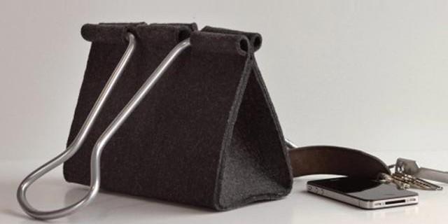 """""""Die Clip Bag von Peter Bristol aus Seattle ist ein Ausnahmefall. Es kommt selten vor, dass eine Form ohne Übersetzung neu benutzt werden kann.""""  Mode & Lifestyle: Handtasche im Clip-Format Wohn DesignTrend ModeLifestyle Handtasche im Clip Format 04 e1371801220116"""