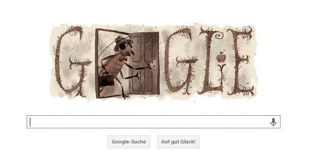 """""""Das neueste Google Doodle ist dem Schriftsteller Franz Kafka gewidmet, der am 3. Juli 130 Jahre alt geworden wäre.""""  Google Doodle zu Franz Kafka: Sein 130. Geburtstag Wohn DesignTrend Google Doodle zu Franz Kafka e1372846652174"""