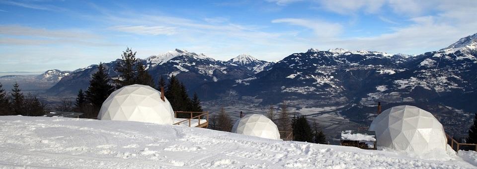 Whitepod Resort: Umweltfreundlicher Luxus in der Schweiz Wohn DesignTrend Whitepod Resort in der Schweiz slide