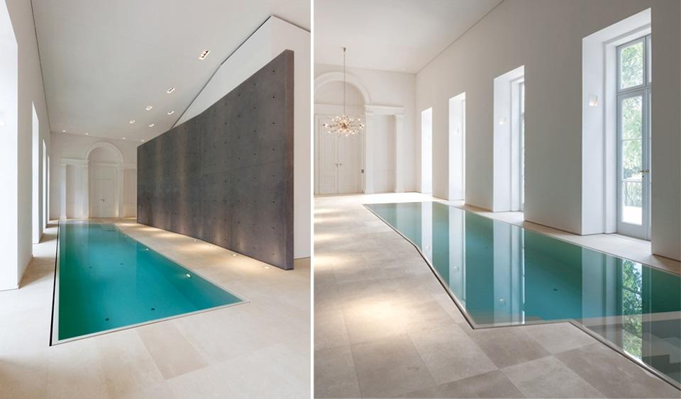 10 moderne und luxuriöse Innenschwimmbäder 10 moderne und luxuri  se Innenschwimmb  der slide