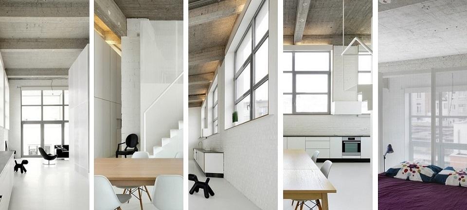 Moderne Wohnung aus Beton bei Adn Architects Moderne Wohnung aus Beton bei Adn Architects slide