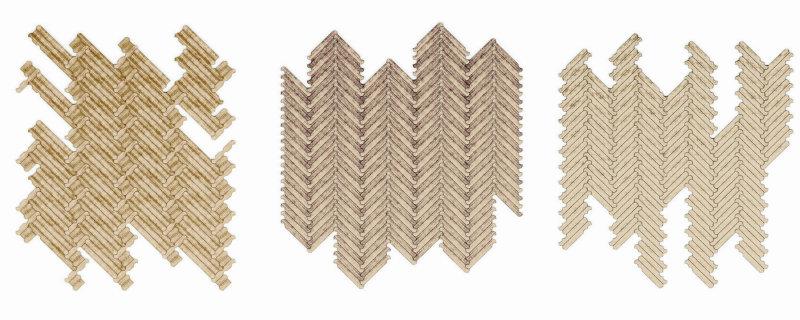 Milan Design Week 2015: Patricia Urquiola führt Parkettbeschlagsysteme ein collage1